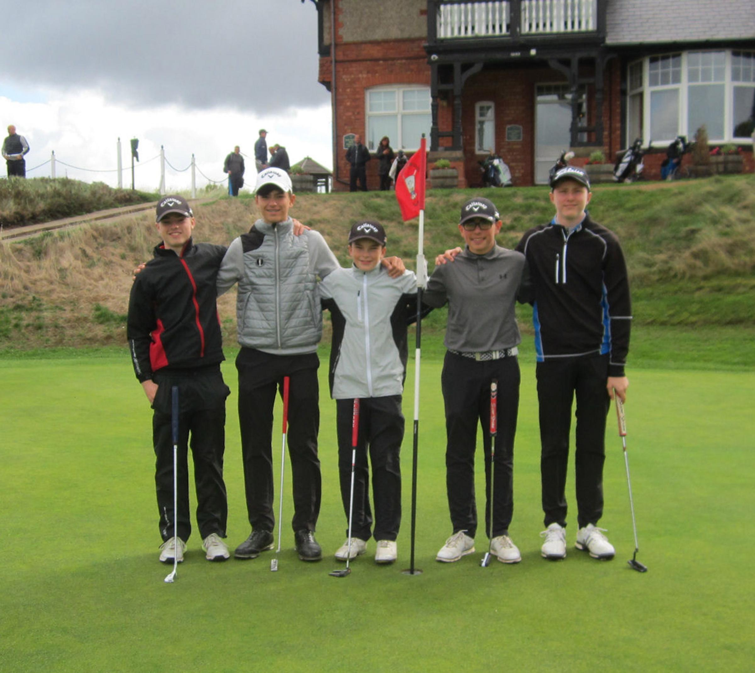 The Styal Golf Club quintet representing the Mid Cheshire League