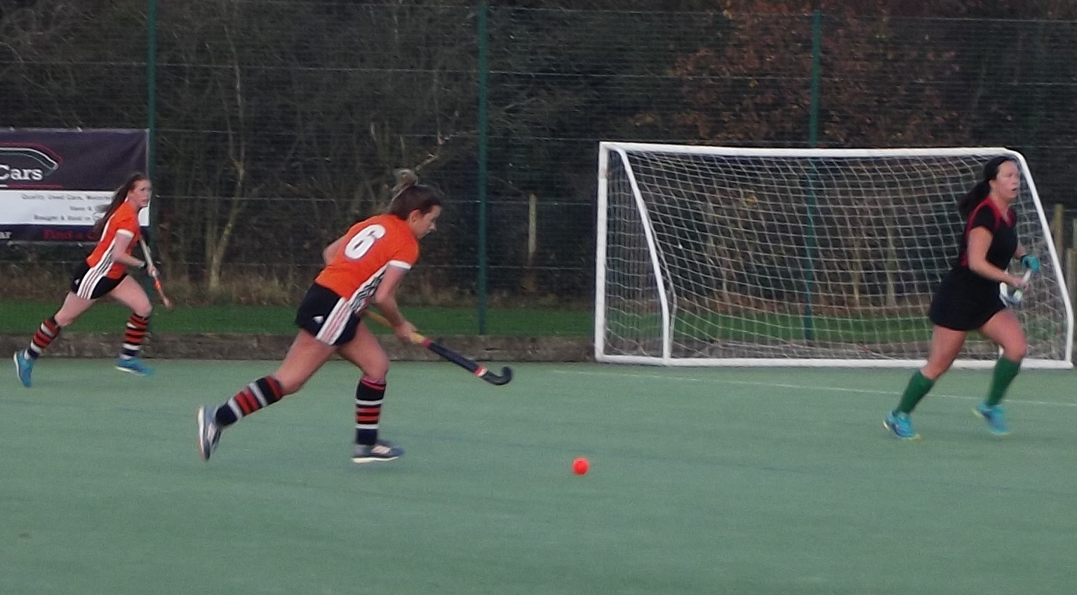 Action from Wilmslow women's firsts' 10-0 victory over Wrexham