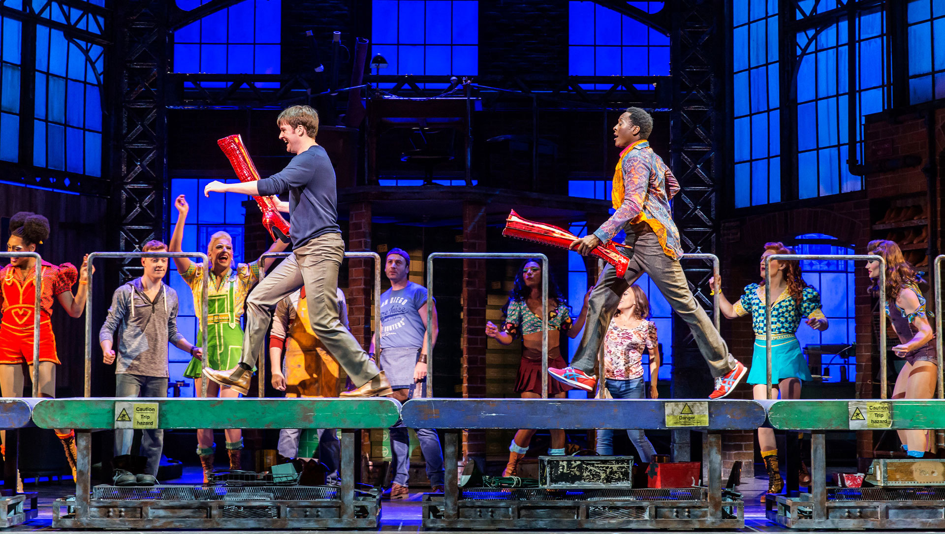 The cast of Kinky Boots will strut their way into Venue Cymru in February