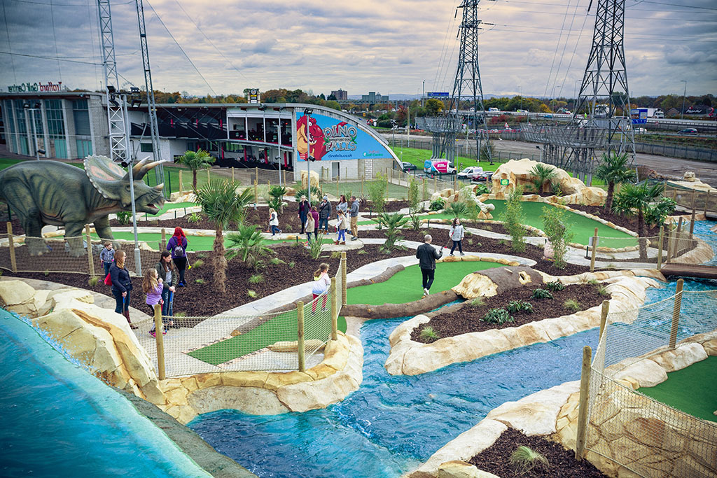 Kids can go free at Dino Falls Adventure Golf this February