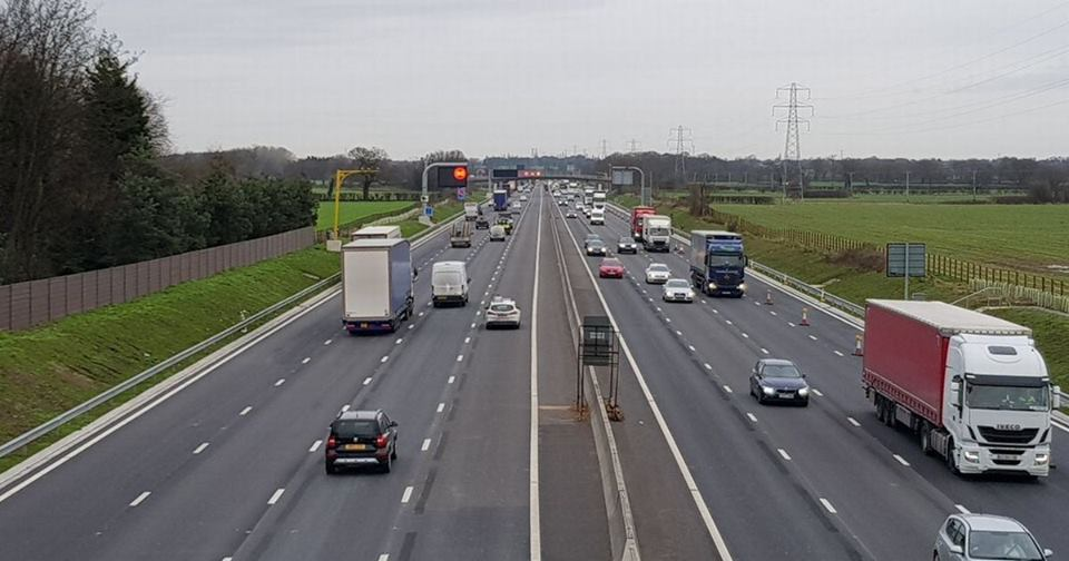 M6 drivers reminded to use all four lanes. {ic credit: NW Motorway Police