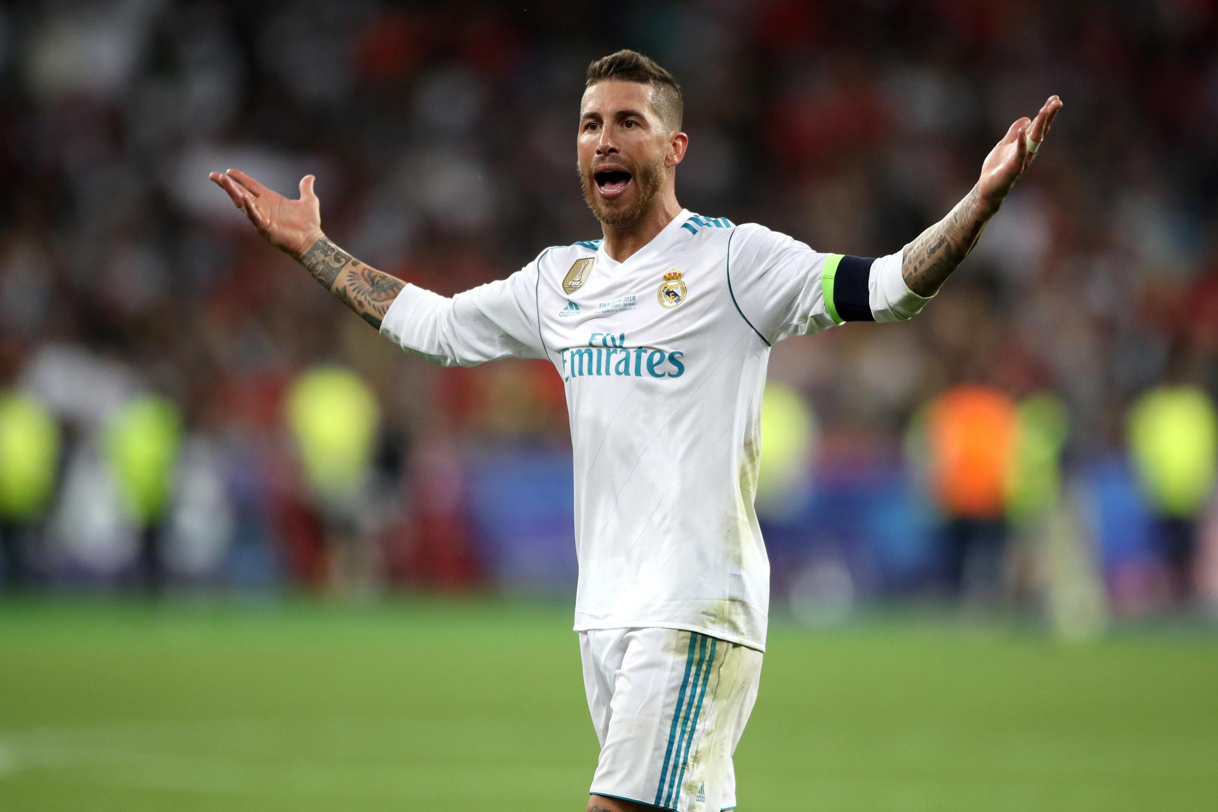 Real Madrid's Sergio Ramos has denied deliberately picking up a late yellow card against Ajax