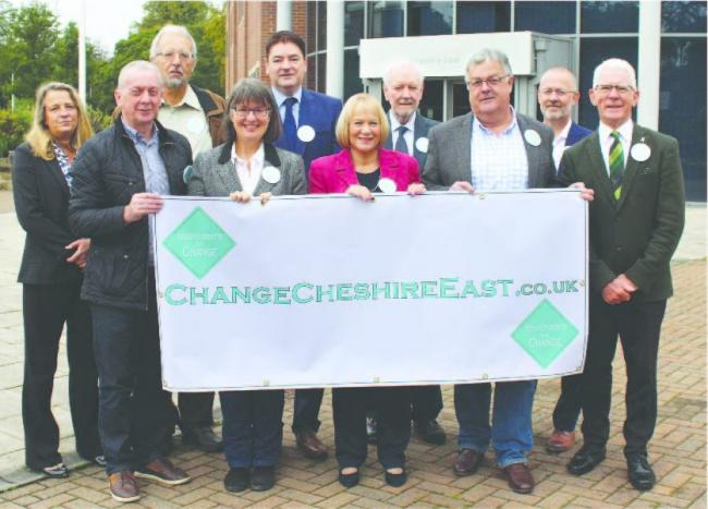 Members of the previous council's independent group launched the Change Cheshire East campaign last year