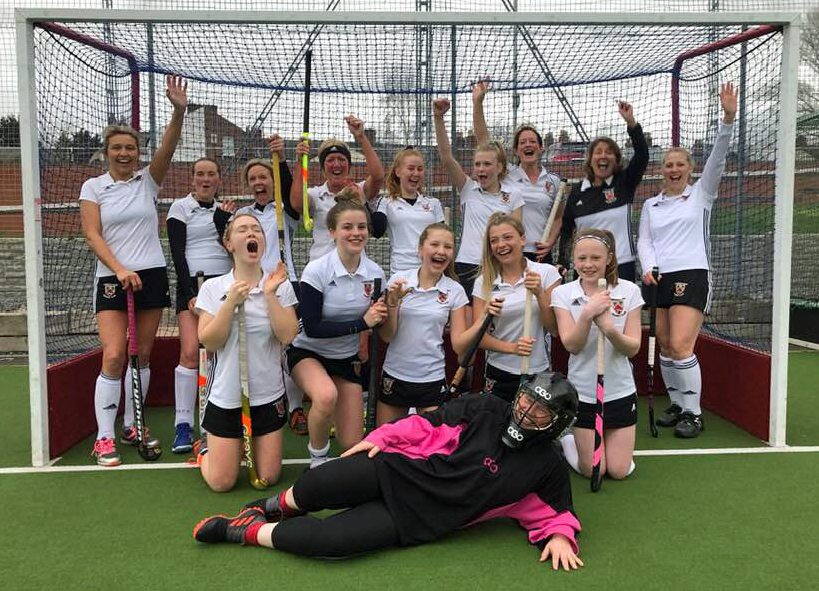 Alderley Edge Hockey Club women's fifths, who have secured promotion on the back of an unbeaten season