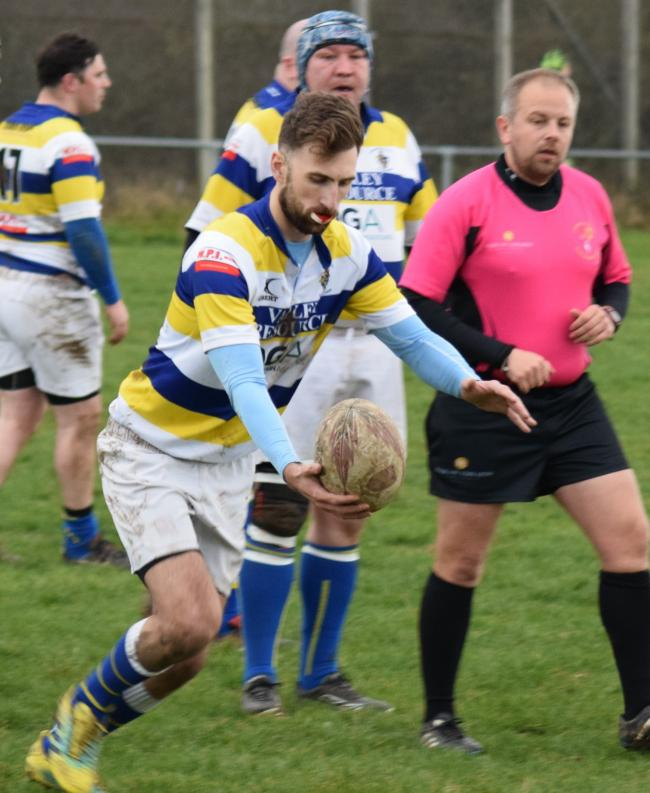 Knutsford try-scorer Alex Malcolm. Picture: Tony Evans