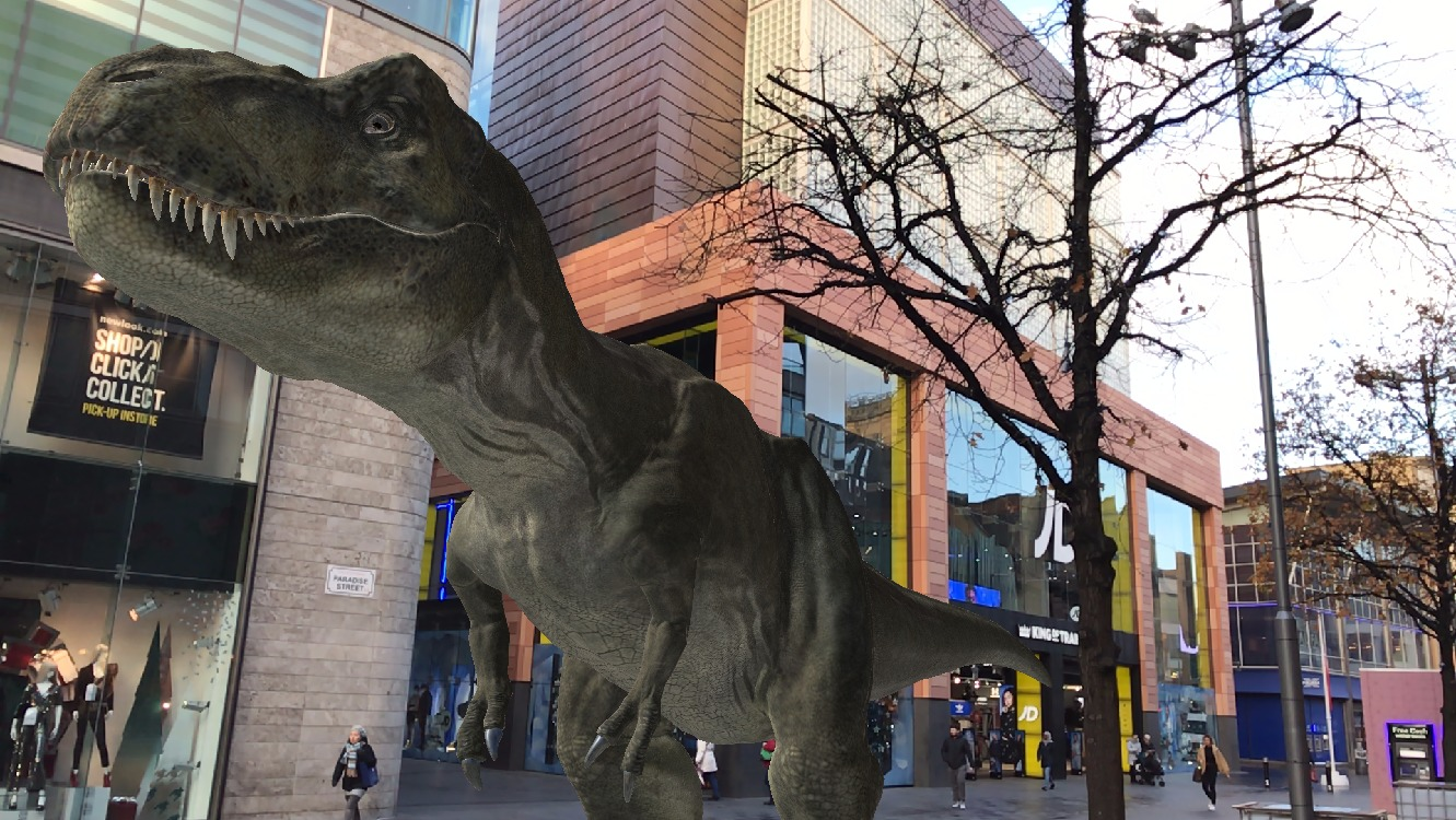 A futuristic dinosaur hunt launches at Liverpool One this Spring