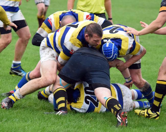 Giles Robertson scored both of Knutsford's tries in their defeat at Old Bedians seconds