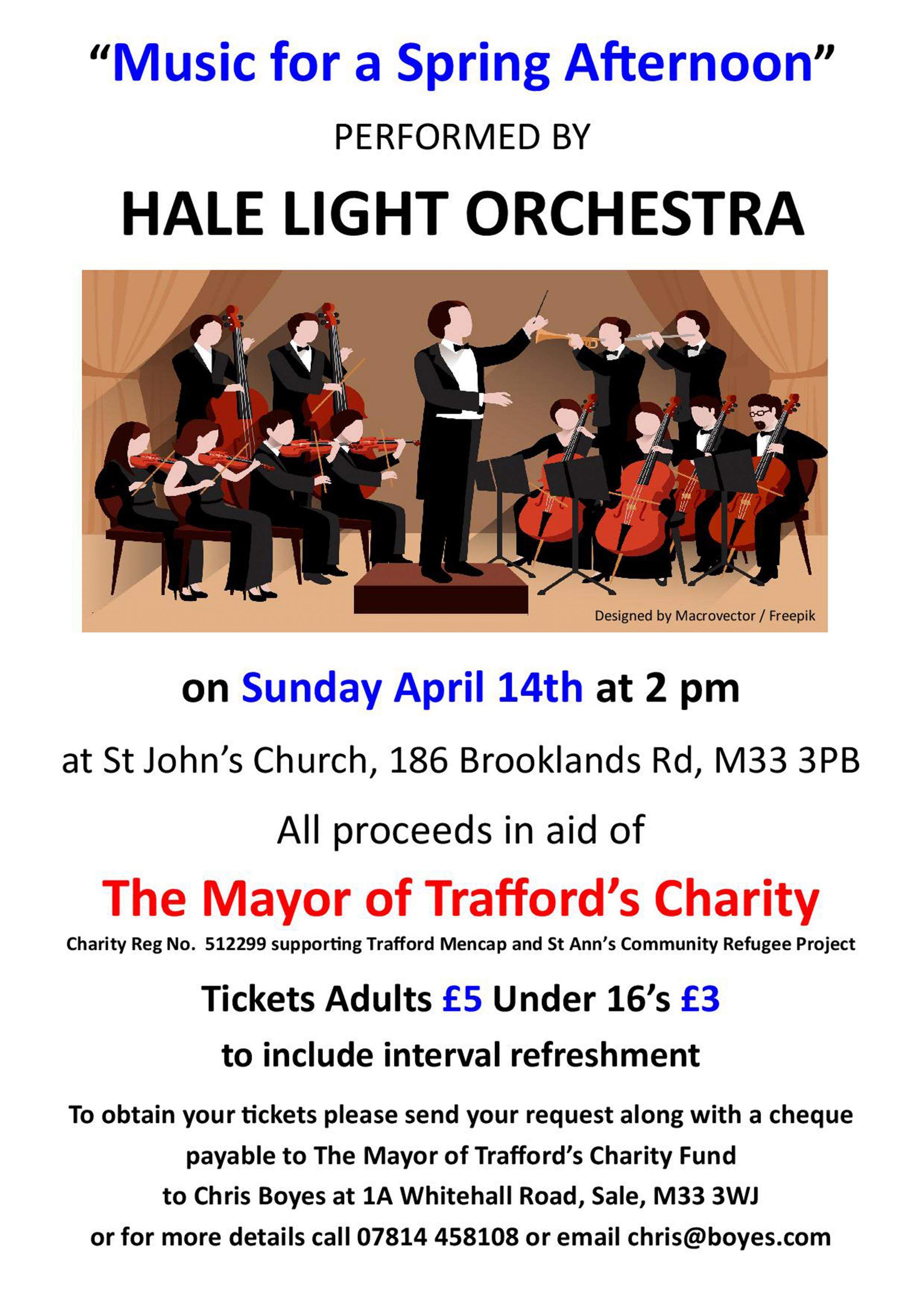 Mayor of Trafford's Charity Concert - Music for a Spring Afternoon