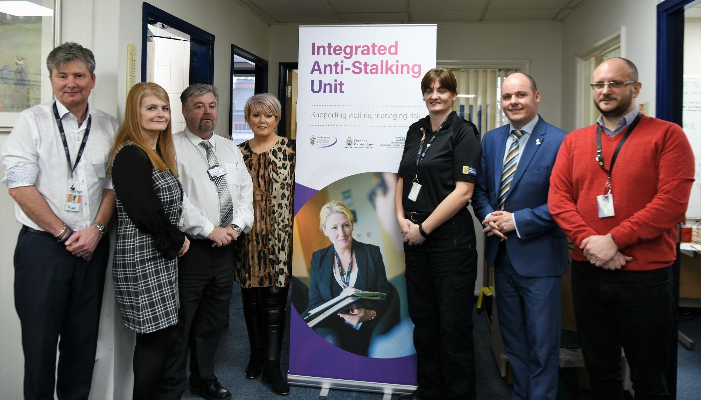 PCC David Keane at a recent visit to the unit with the Victims Commissioner, Baroness Helen Newlove, and officers and staff at the unit