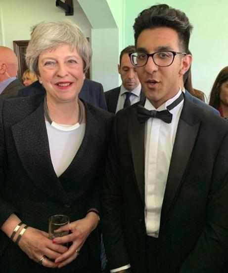 Hannan Sarwar with Prime Minister Theresa May