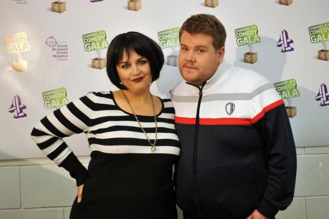 James Corden and Ruth Jones, as the hit sitcom they created, Gavin and Stacey, is returning for a one-off Christmas special. Pic credit: Ian Nicholson/PA Wire