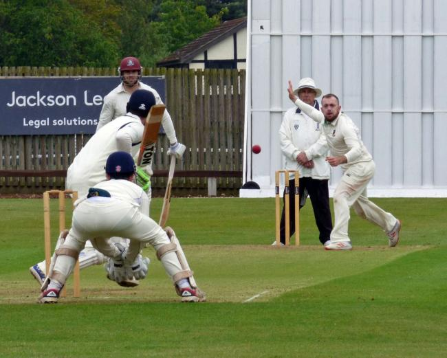 Jimmy Lomas bowling for Toft during the 2019 season. Picture: Jeff Tenner