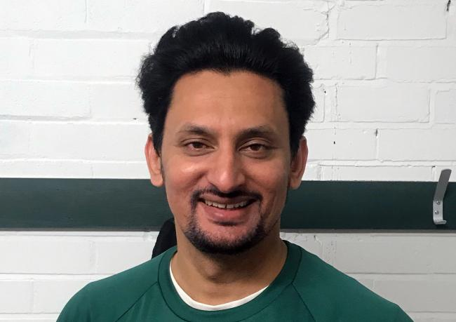 Rana Rauf, who took two wickets for Lindow in their T20 clash with Alderley Edge