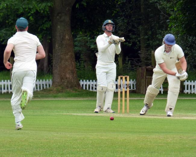 Toft's wicket-keeper Rob Sehmi, centre, scored an unbeaten century when the Knutsford outfit beat Marple by seven wickets in the Cheshire County League's Premier Division last weekend. Picture: Jeff Tenner