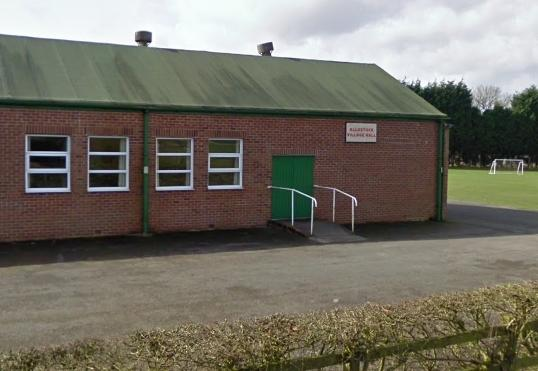Allostock Village Hall. Google Maps